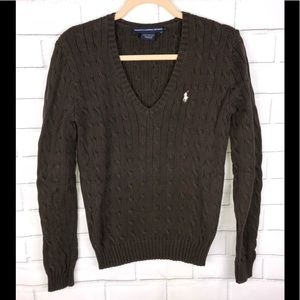 Ralph Lauren Polo Sport l Brown Cable Knit Sweater